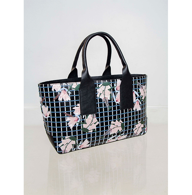 Vegan Bag with Floral Print - Vegan Leather Envelope Bag - Accessories U WOMAN  -  Adolfo Dominguez