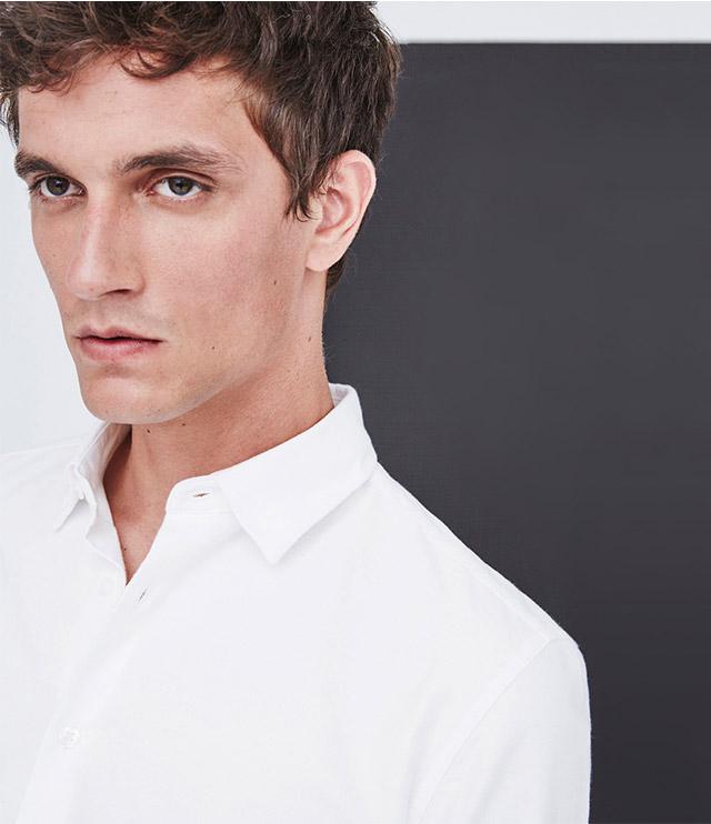 Camisa blanca de algodón – Camisas para hombre - Looks de oficina -  Moda AD Hombre  Adolfo Dominguez
