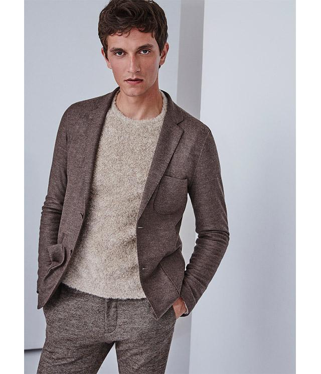 Blazer de punto para hombre - Jersey texturizado de punto -  Moda AD Hombre  Adolfo Dominguez
