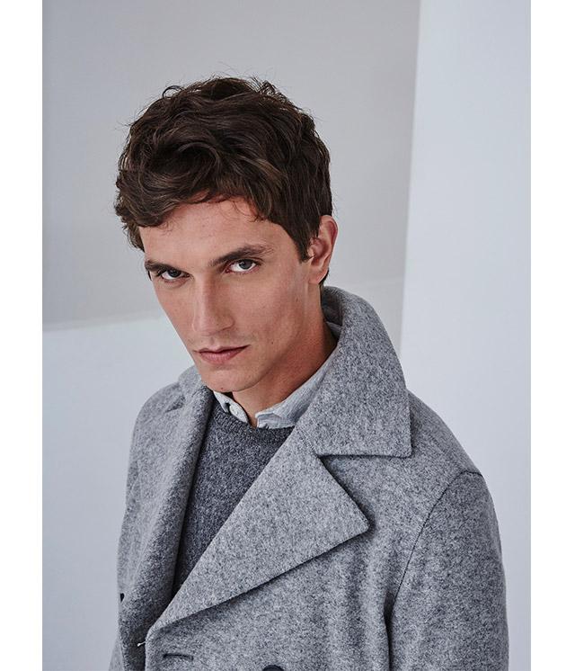 Jersey texturizado para hombre - color gris -  Moda AD Hombre  -  Adolfo Dominguez