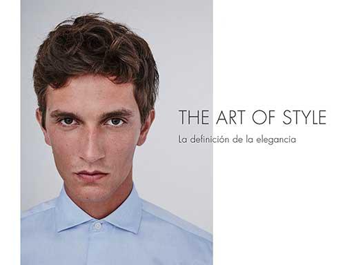 Camisa celeste de franela  - Looks de oficina hombre -  Moda AD Hombre  -  Adolfo Dominguez