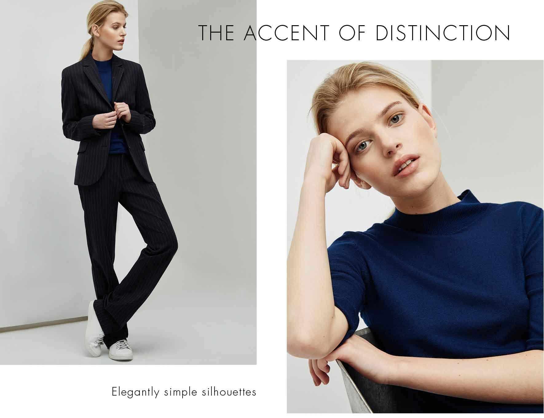 Trajes de chaqueta mujer con rayas  - Pantalón Tailored de rayas -  Moda AD Mujer -  Adolfo Dominguez