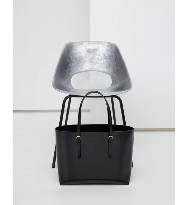 Bolso negro de piel – bolsos de mujer - Moda AD mujer - Adolfo Dominguez Online