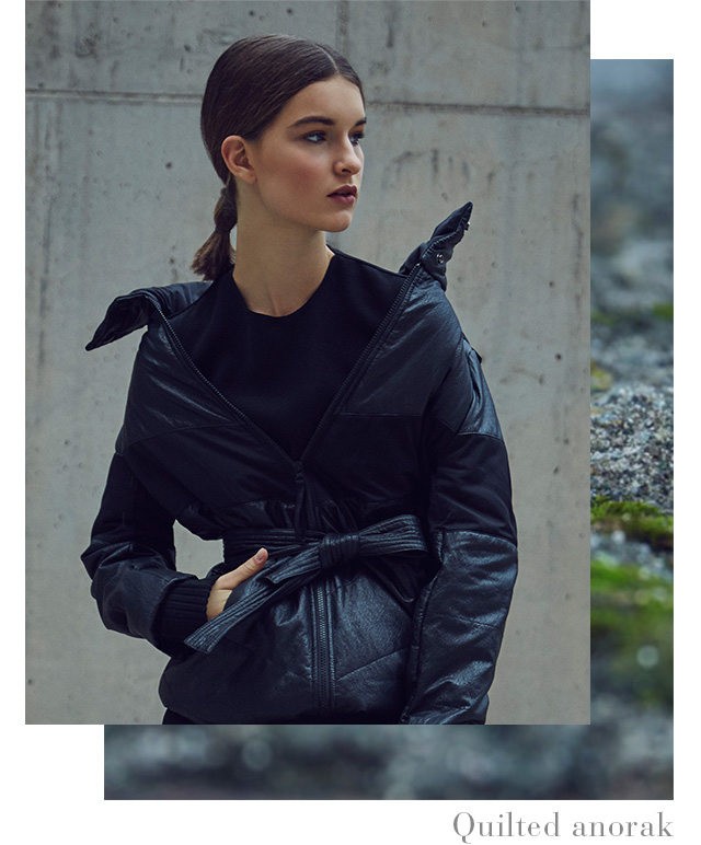 Quilted Anorak - AD Women's Outerwear & Winter Coats  - Adolfo Dominguez Online