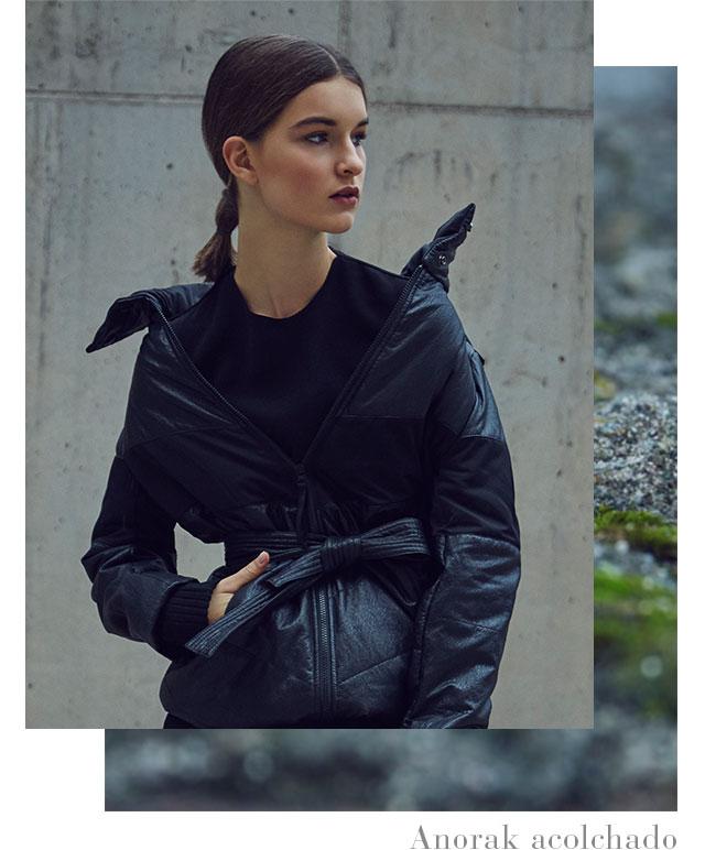 Anorak acolchado - Abrigos de invierno AD Mujer  - Adolfo Dominguez Online