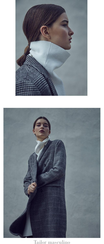 Abrigo tailor estilo masculino -  Abrigos de invierno AD Mujer  - Adolfo Dominguez Online