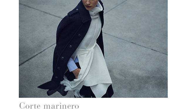 Abrigo blanco envolvente de alpaca -  Abrigos de invierno AD Mujer - Adolfo Dominguez Online