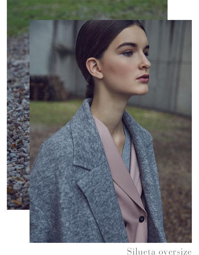 Abrigo largo oversize  -  Prendas exteriores y Abrigos de invierno AD Mujer -  Adolfo Dominguez Online