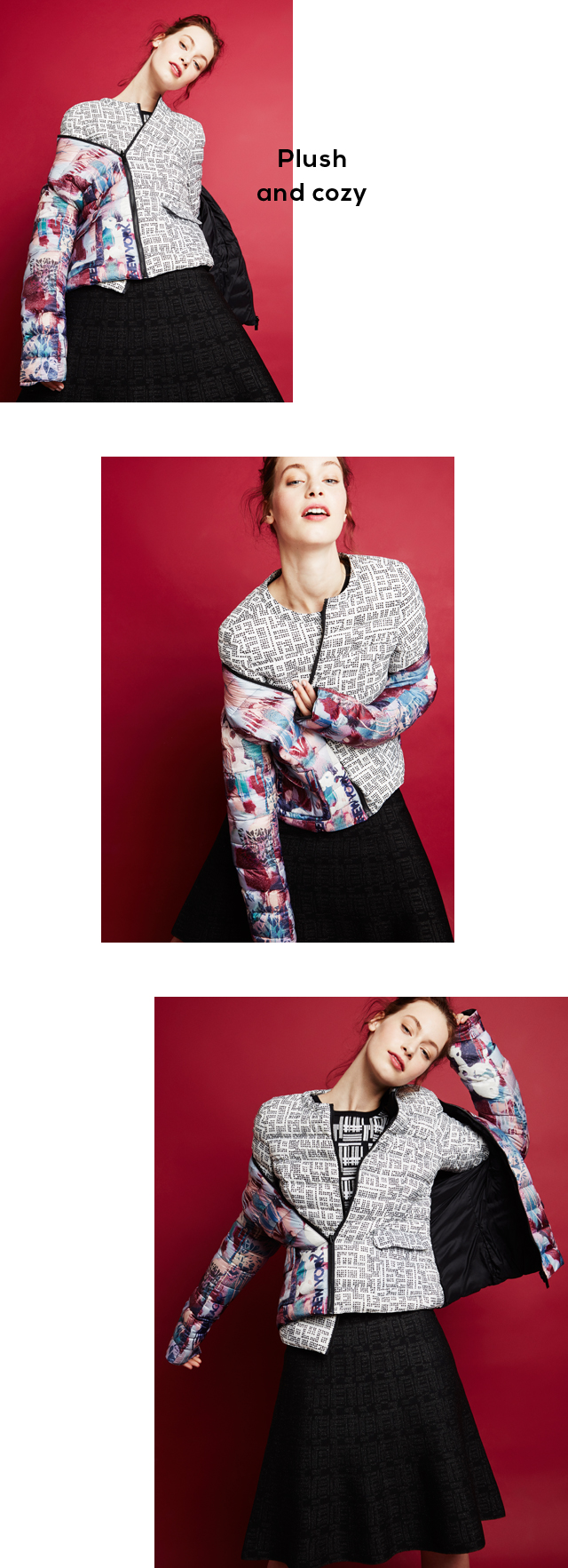 Coloured quilted jacket - Winter Coats Woman - U Woman  - Adolfo Dominguez Online