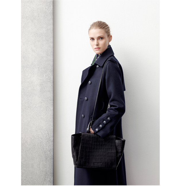 Long coat buttoned up - Fall Winter Fashion - AD WOMAN Adolfo Dominguez