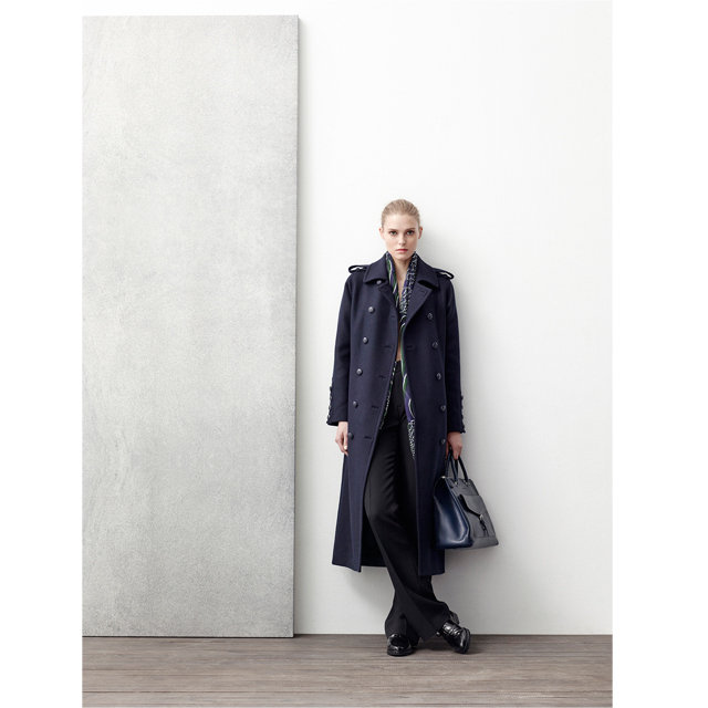 Long coat with buttons - leather bag – Fall Winter AD WOMAN Adolfo Dominguez