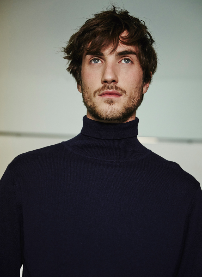 Jersey para hombre - cuello alto - Prendas de punto AD Hombre  -  Adolfo Dominguez Online