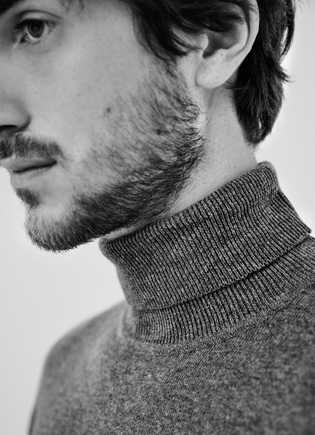 Blue turtleneck sweater - Knitwear AD Man  -  Adolfo Dominguez