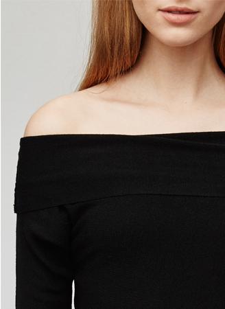 Jersey de punto - hombros abiertos - Prendas de punto AD Mujer  -  Adolfo Dominguez Online