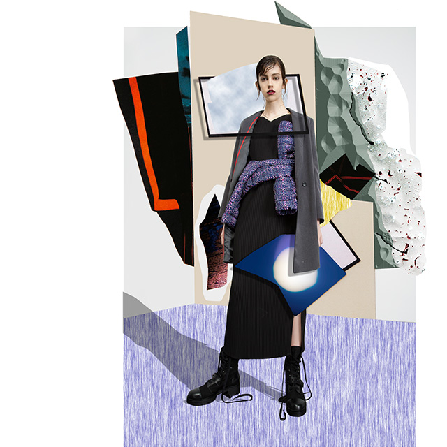 Long dresses - Designs and New York-inspired textures - U WOMAN Adolfo Dominguez