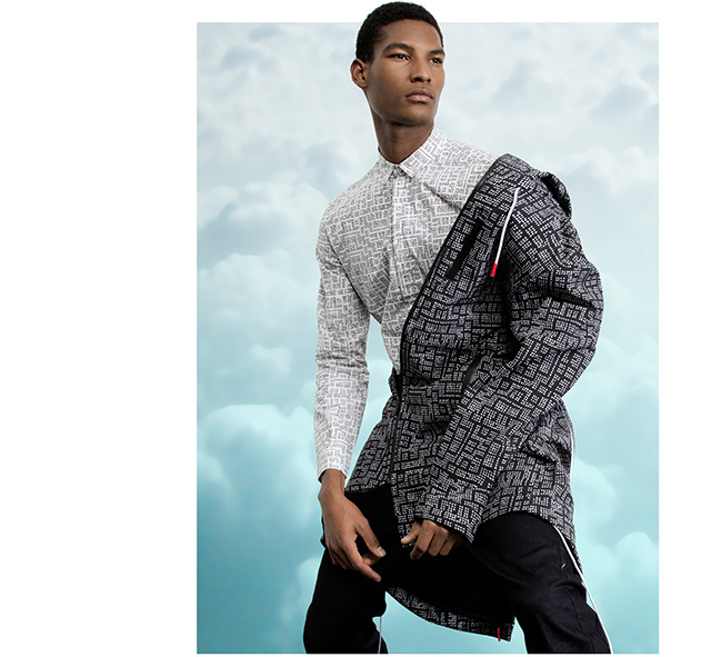 Men coat - shirt designs - New York inspiration - U MAN Adolfo Dominguez
