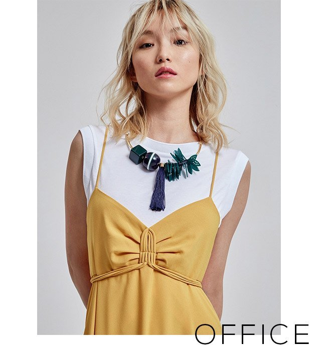 Maxi Dress with Straps - yellow dress - women's dresses - Fashion U Woman - Adolfo Dominguez Online