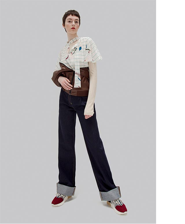 Shirt and Women Trousers - Fall Winter Fashion Trends - U Woman Adolfo Dominguez