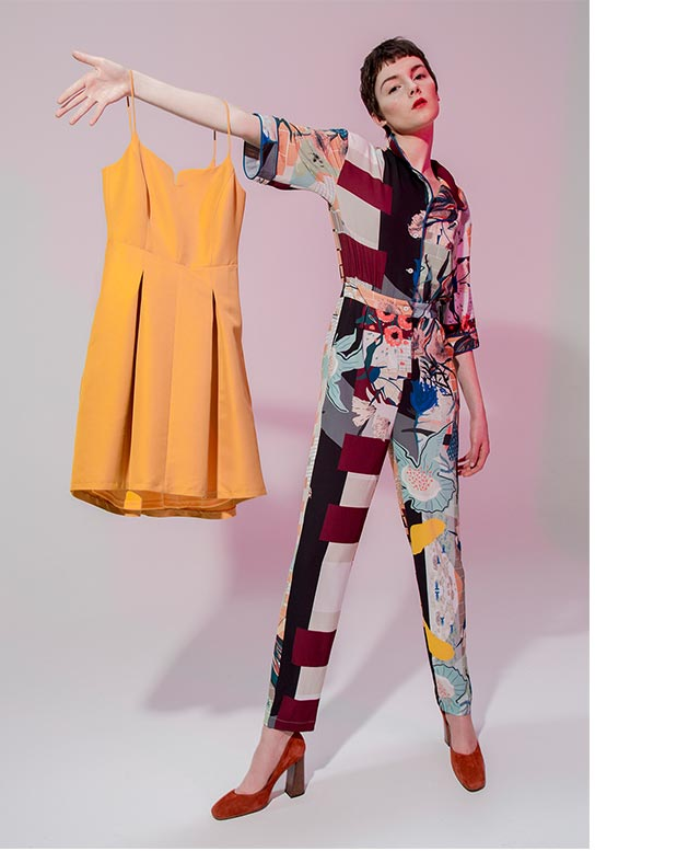 Jumpsuit woman - Prints and designs New York inspiration - U Woman Adolfo Dominguez