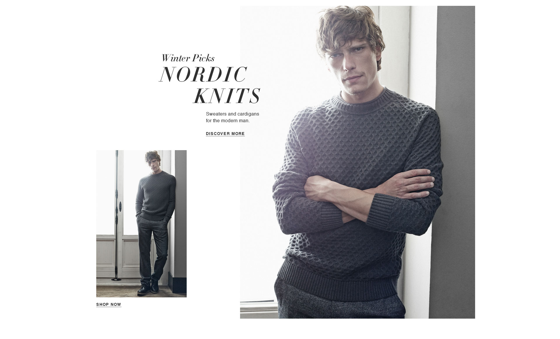 Sweaters and cardigans for the modern man. Shop knitwear